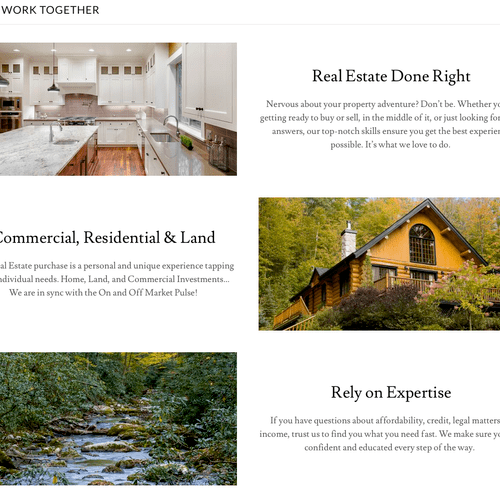 Website - Home (lower half)