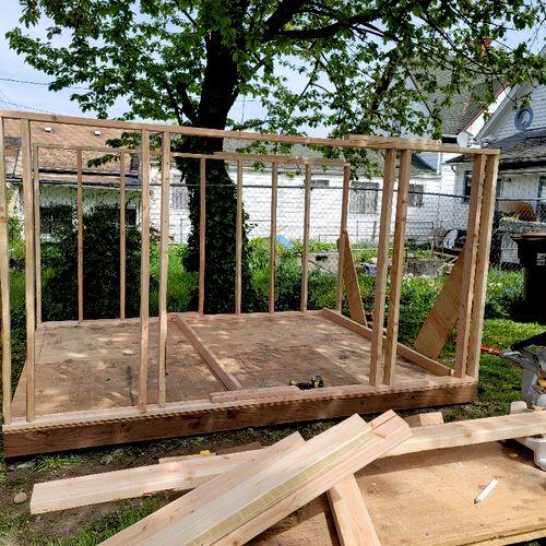 custom shed build