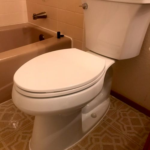 The old toilet was so old,  had to saw off all the rusted bolts before installing new one.