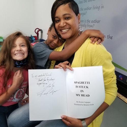 """""""Meet the Author Day"""" at work. Honored to inspire students to follow their dreams."""