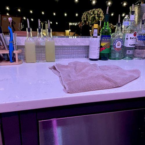 Bar set up for a wedding