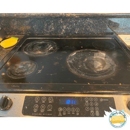 Stove Top Cleaning - Before