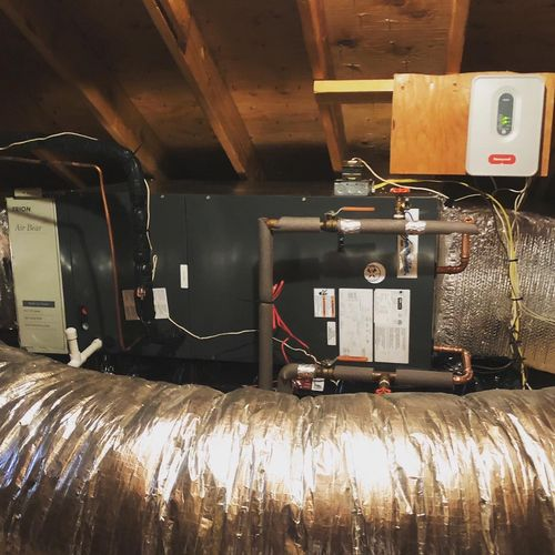 4 Ton Hydronic Air Handler indoor unit after photo