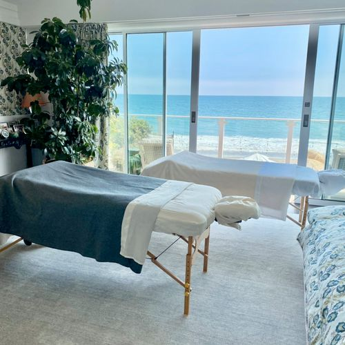 Couples massage with a view