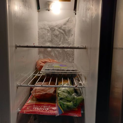 Side by side refrigerator defrost system replacement