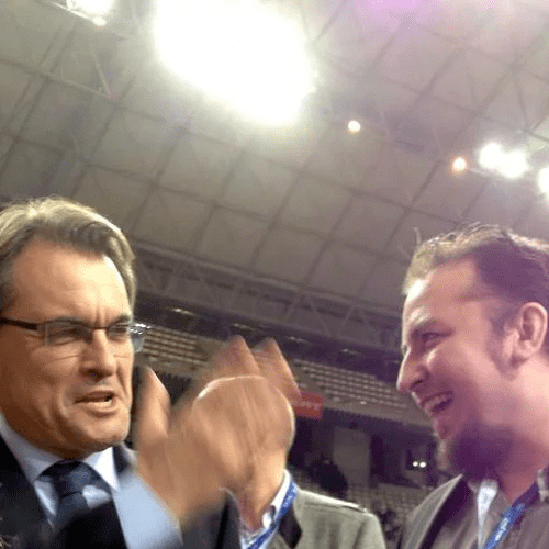 Jordi with President Mas