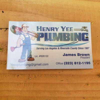 Avatar for Henry yee plumbing inc
