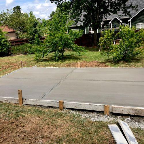 Concrete slab for a hot tub !!