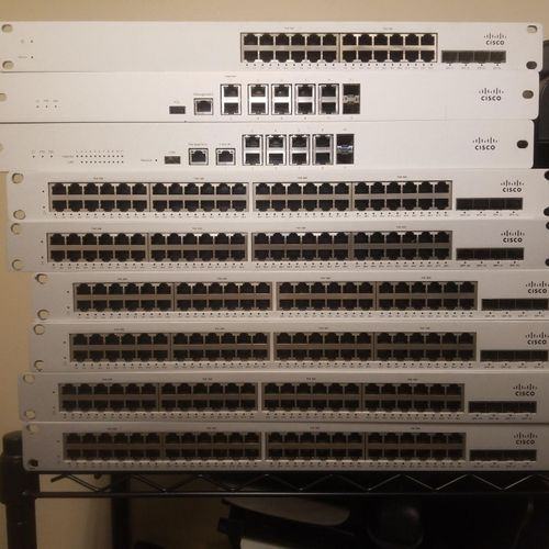 Work on switches and other network infrastructures