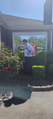 Brandin conducting a quarterly service