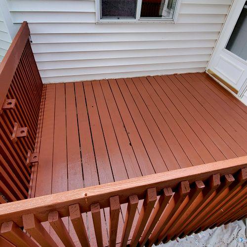 Deck semisolid stain Eagan