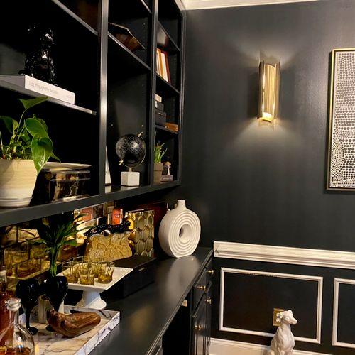 Home Office designed like a Cigar Lounge