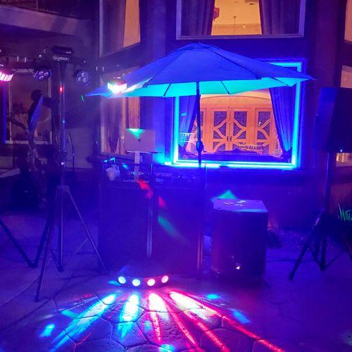 Sat, June 4th, grad party setup