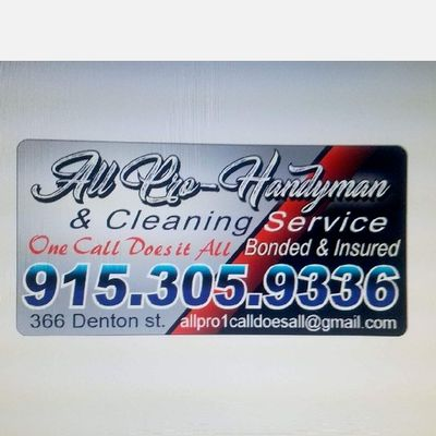 Avatar for All Pro Handyman & Cleaning Service