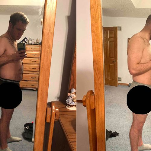 36 inch waist to 33 in 16 weeks. Stilling working with me today!