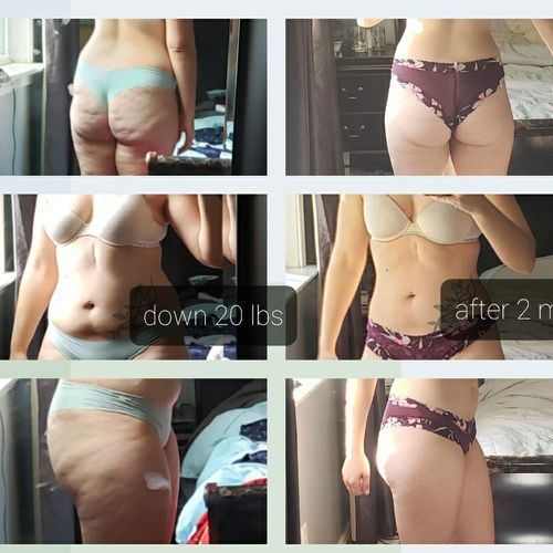 This client lost her first 20 lbs in 2 months! So happy for her!!