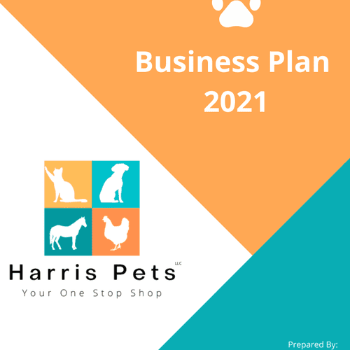 Harris Pets Business Plan and logo creation example (removal of any personal items such as key strategies and financials)