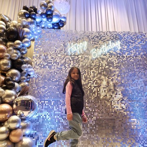 silver sequins wall $799