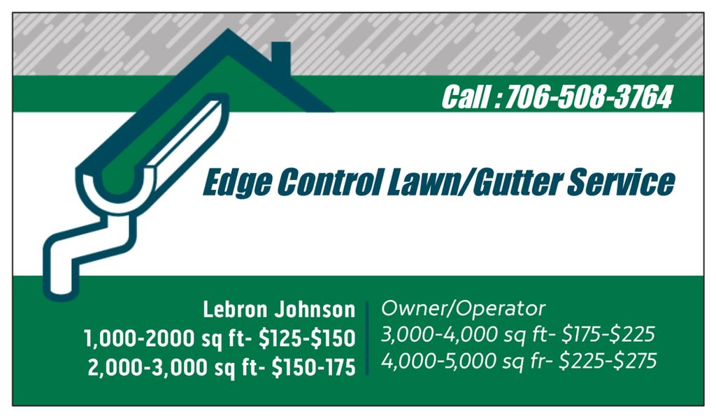 Edge Control Lawn/Gutter Service