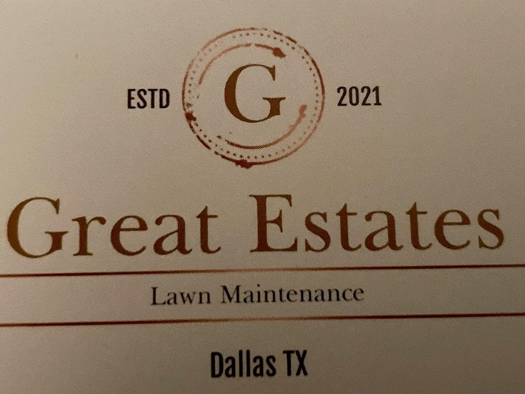 Great Estates lawn Maintenance