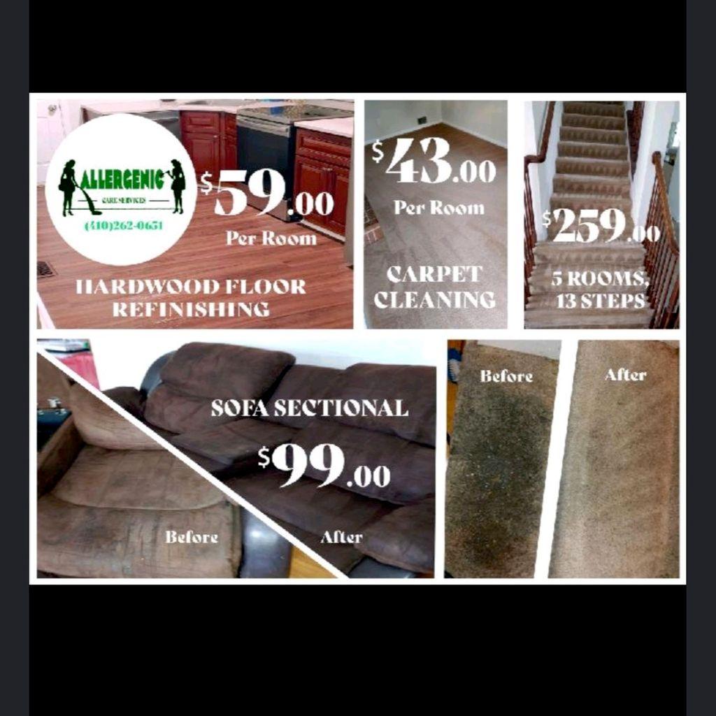 Allergenic Care Carpet n upholstery .😺