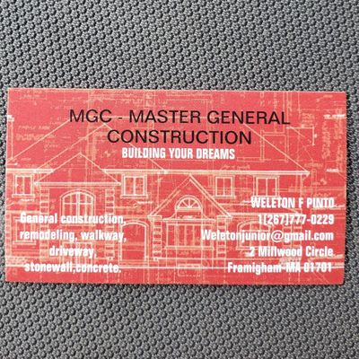 Avatar for MGC MASTER GENERAL CONSTRUCTION