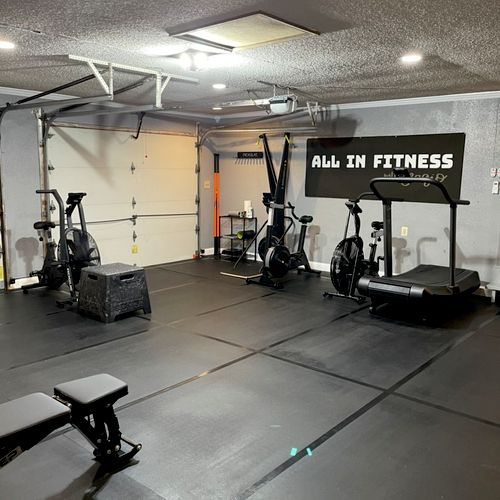 My personal training gym.