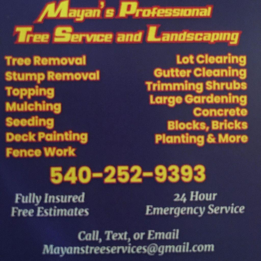 Mayas tree services