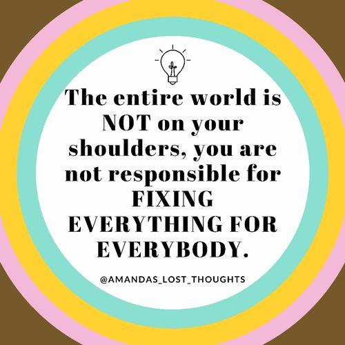 Release false responsibility!