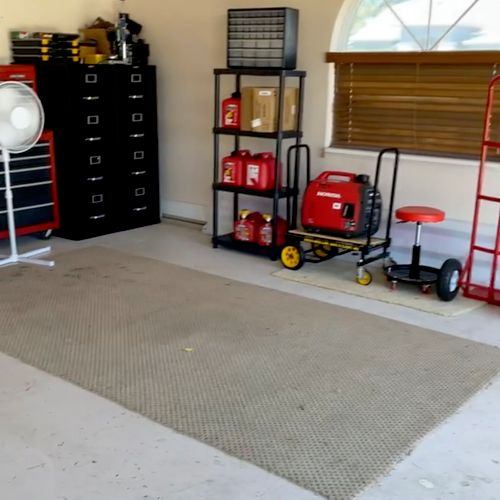 Jill wanted to surprise her husband with a clean garage for his 70th Birthday!