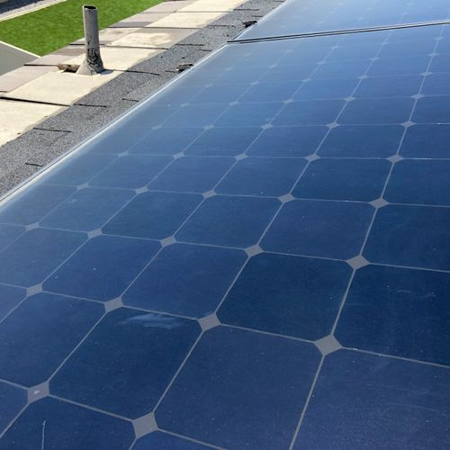 Clean solar panels (after) 6