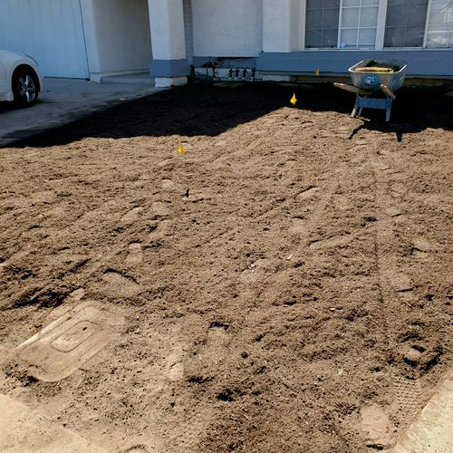 removed the lawn preparing to istall new sod2