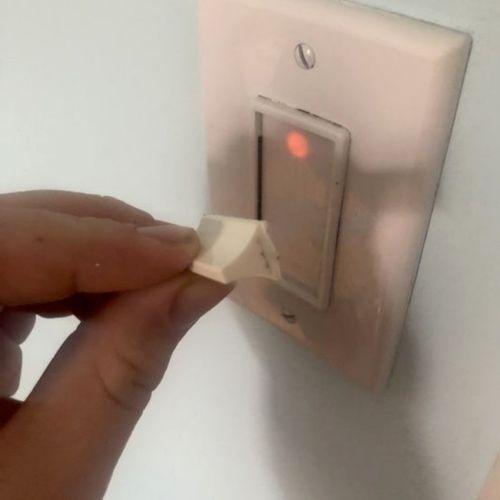 Before (broken dimmer light switch)