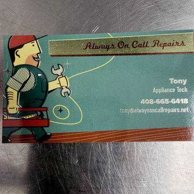 Avatar for Tony's Appliance Repair