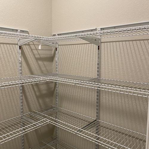 Interior closet shelving