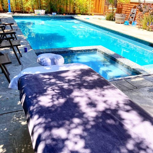 My client enjoyed the day with nice weather and poolside view at the comfort of their own backyard.