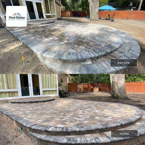 Sealing to protect this new paver patio.