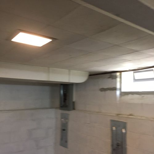 Ceiling tile removal(Before)