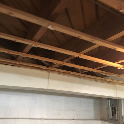 Ceiling tile removal (After)