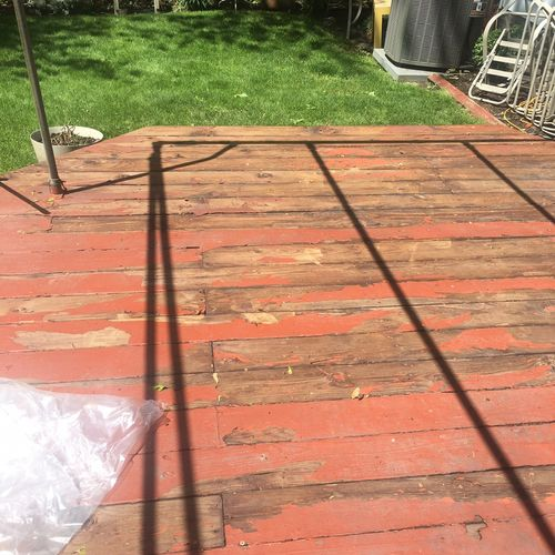 Deck Painting. Power wash and scraped