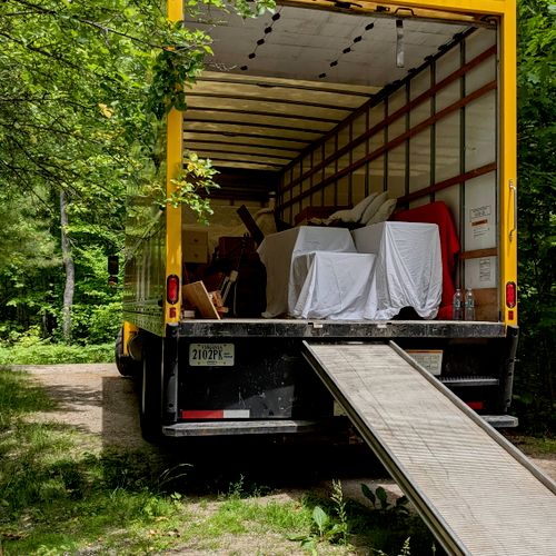 Safely loaded furniture ready for it's move to a new home!