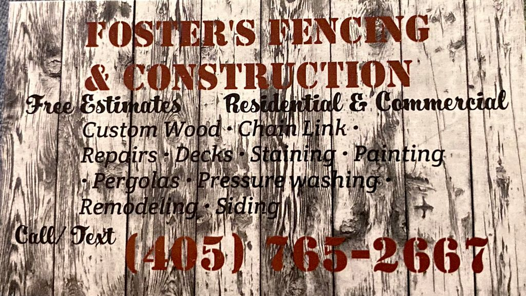 Foster's Fencing & Construction