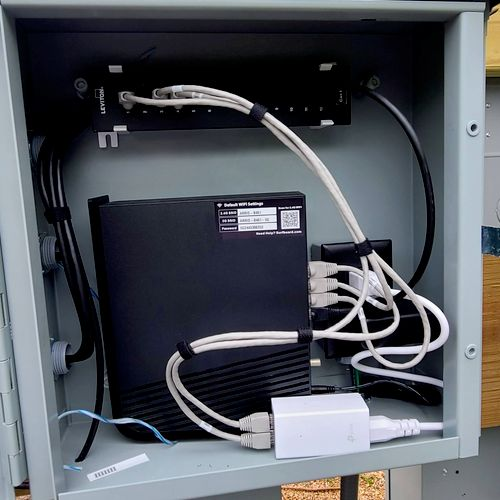 outside junction box for network extension