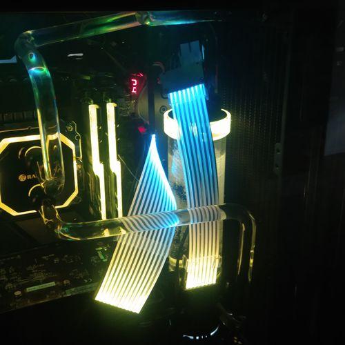 Custom Game Build. Specs:  10th Generation Intel I9 CPU, 128Gb RAM, 2 8TB M.2 SSD RAID1,  AMD RTX-6900 XT Video, Water Cooled