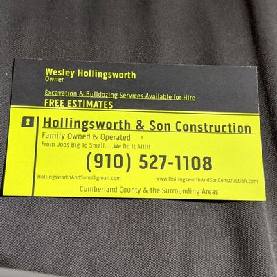 Avatar for HOLLINGSWORTH & SONS CONSTRUCTION