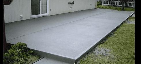 Back porch patio complete
