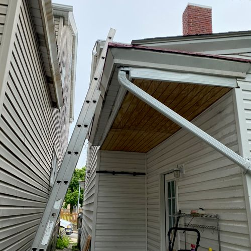 Box gutter and ceiling repair