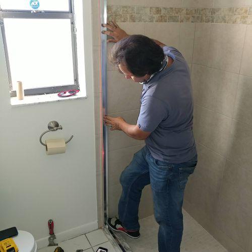 Toilet and bath room doors installation
