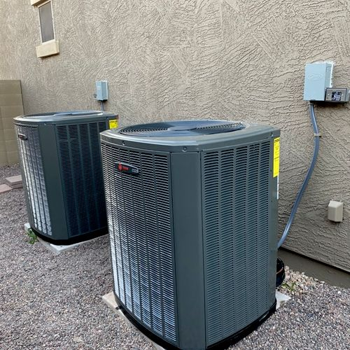 Two Trane XV18 Variable speed AC systems installed for a customer in Goodyear, AZ!