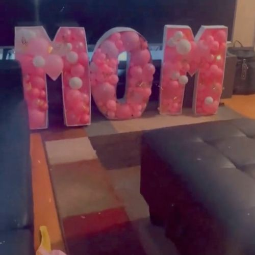 Letter Mosaic @balloons_by_a. All sizes available